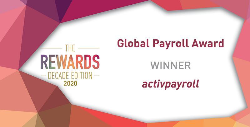 activpayroll win Global Payroll Award