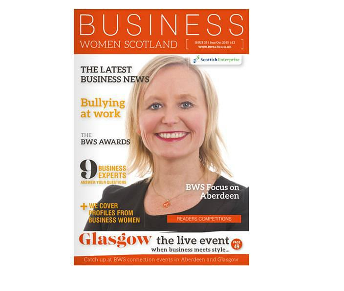 Alison on Business Woman Scotland Magazine